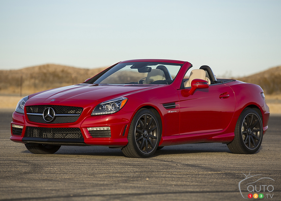 List of car and truck pictures and videos auto123 for Mercedes benz slk 2013