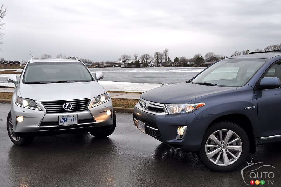 2013 Toyota Highlander Hybrid / Lexus RX450h comparison test