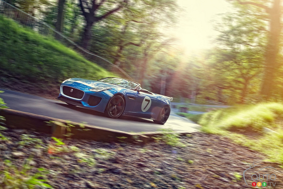 Jaguar Project 7 Concept on display at Goodwood (+video)