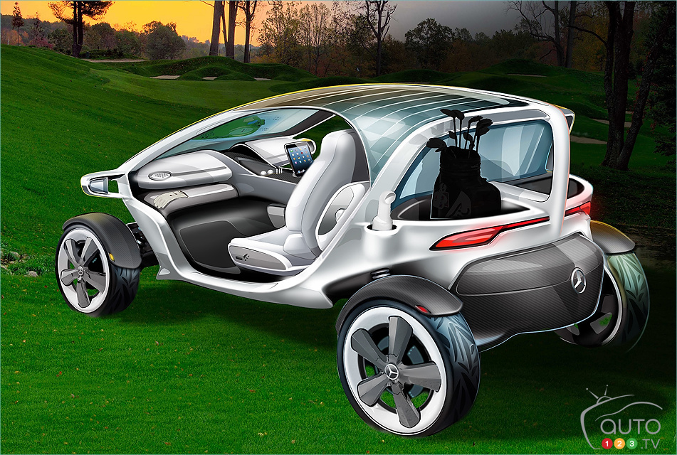 Introducing the Mercedes-Benz Vision Golf Cart
