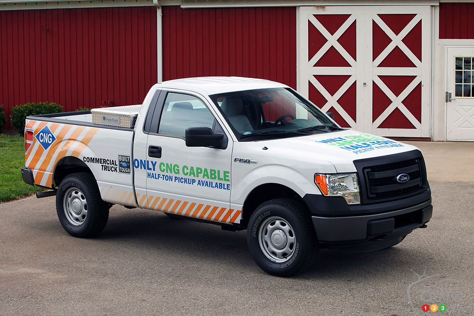 Ford to offer compressed natural gas V6 option with 2014 F-150