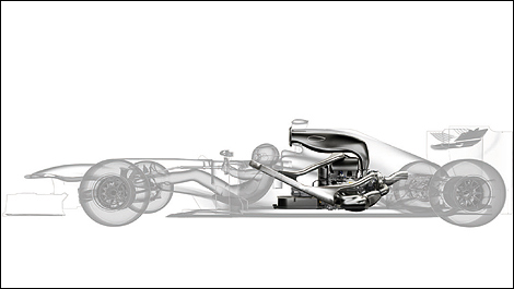 f1 technique l 39 int gration du moteur v6 hybride dans les voitures 2014. Black Bedroom Furniture Sets. Home Design Ideas