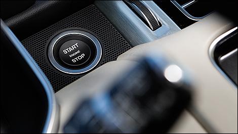 2013 Range Rover Supercharged start button