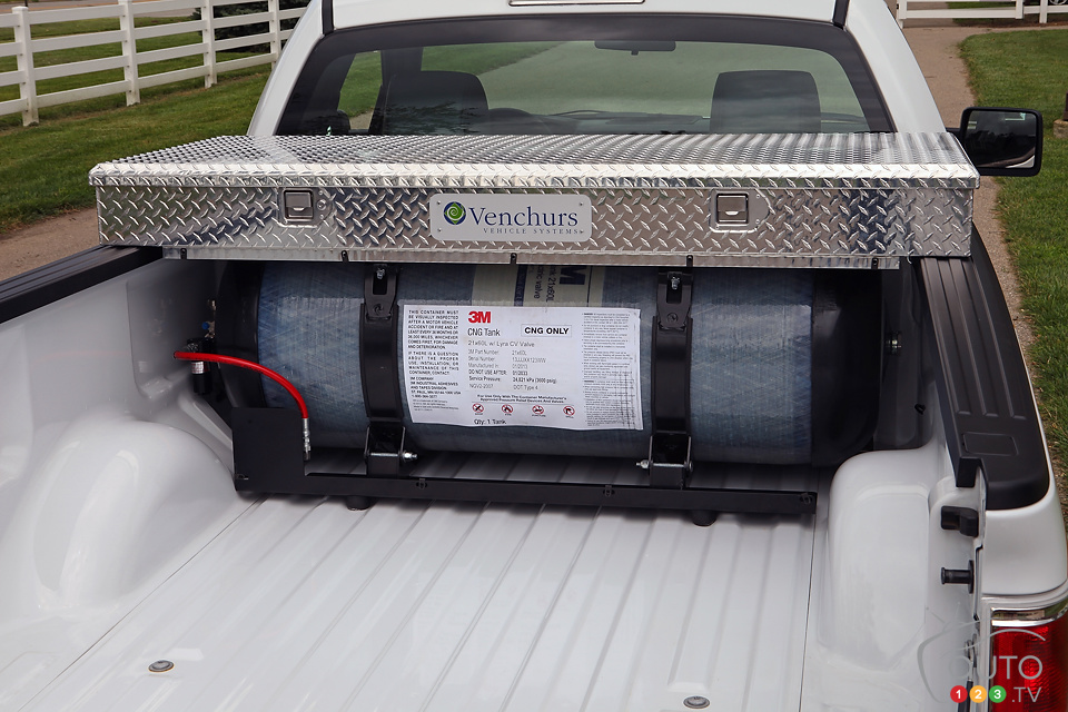 A natural gas fueled, 2014 Ford F-150 available in Canada