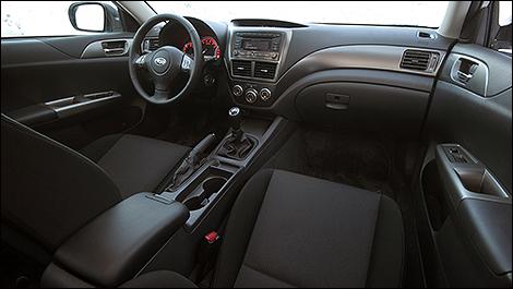 2008 Subaru WRX cabin