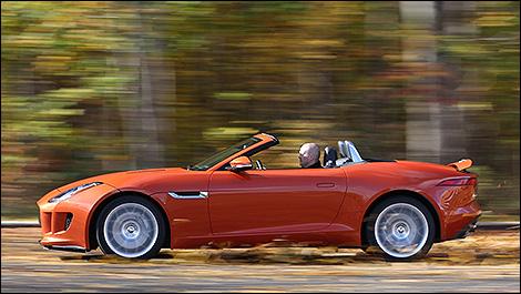 2014 Jaguar F-TYPE side view