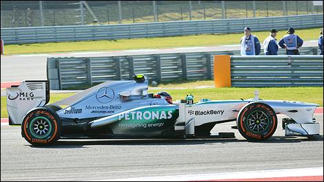 USGP 2013 Austin Lewis Hamiltpon, Mercedes AMG
