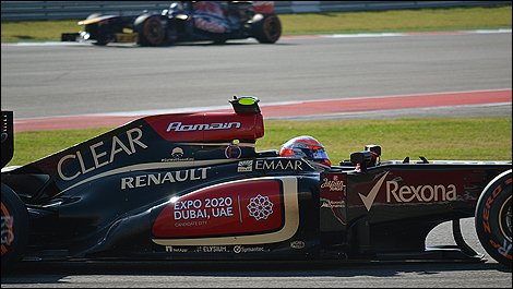 2013 US F1 Grand Prix Romain Grosjean, Lotus