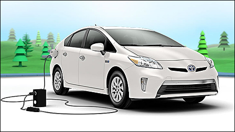 2014 toyota prius plug in preview car news auto123. Black Bedroom Furniture Sets. Home Design Ideas