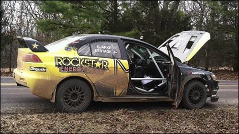 Antoine L'Estage, Mitsubishi Evo X 100 Acre Wood Rally