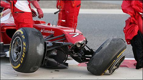 F1 Ferrari F14-T crashed Kimi Raikkonen