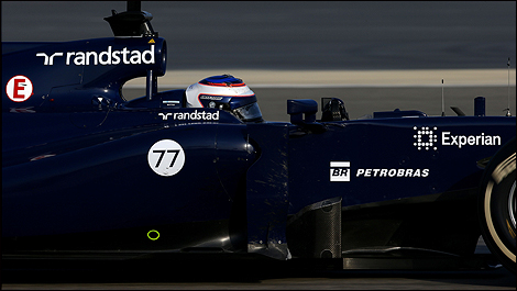 2014 F1 winter testing Bahrain Valtteri Bottas, Williams