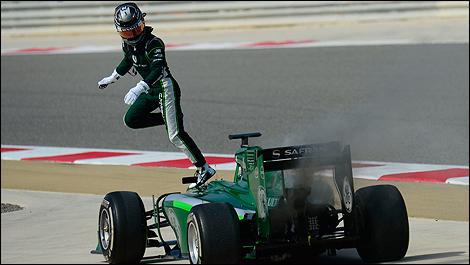 2014 F1 winter testing Bahrain Kamui Kobayashi, Caterham