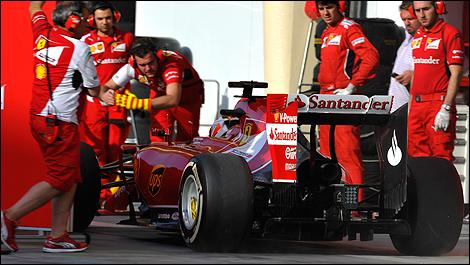 2014 F1 winter testing Bahrain Kimi Raikkonen, Ferrari