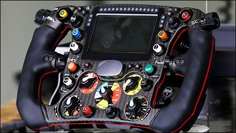 F1 The Steering Wheel Of The 2014 Sauber C33 Photos