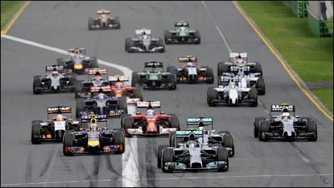 Australia 2014 f1 f1 Australia Start 2014