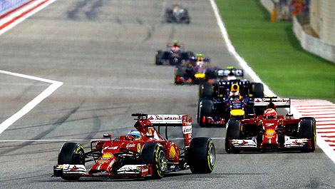 F1 Fernando Alonso Ferrari F14 T Kimi Raikkonen