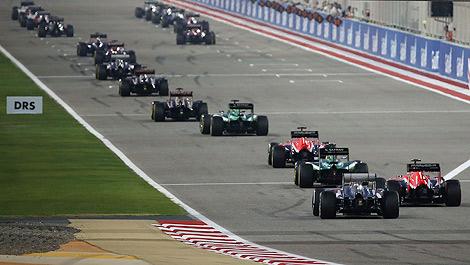 F1 Starting grid Bahrain