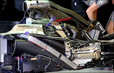 F1 Mercedes engine