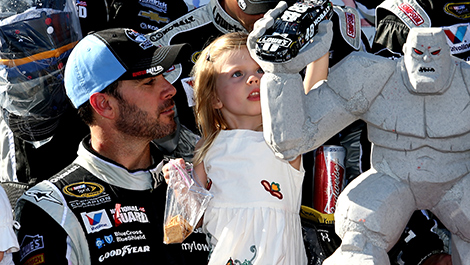 NASCAR Jimmie Johnson daughter Genevive Marie Miles The Monster Trophy