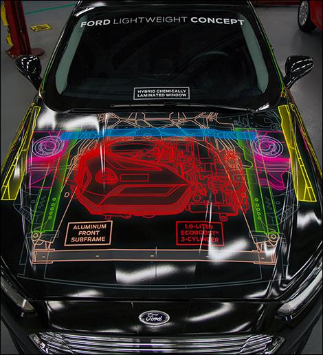 Ford Lightweight Concept: une Fusion au poids d'une Fiesta!