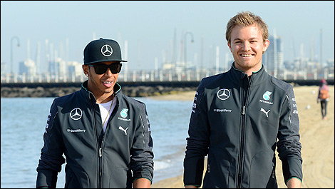 F1 Lewis Hamilton Mercedes AMG Nico Rosberg