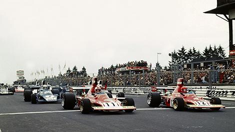 F1 Nurburgring 1974 Clay Regazzoni Niki Lauda