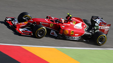 2014 German GP F1 Kimi Raikkonen, Ferrari