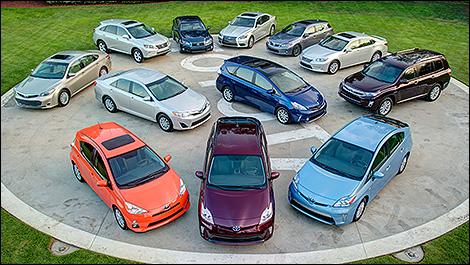 Toyota: 7 millions d'hybrides vendues dans le monde