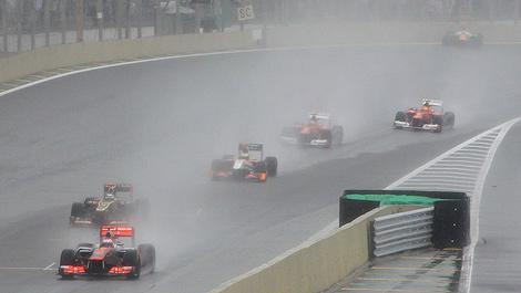 F1 Brazil rain Interlagos 2012