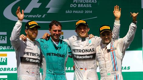 Lewis Hamilton Nico Rosberg Felipe Massa Brazil F1