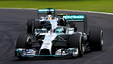Brazil F1 Lewis Hamilton Nico Rosberg Mercedes W05