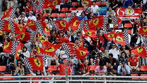 F1 Ferrari fans