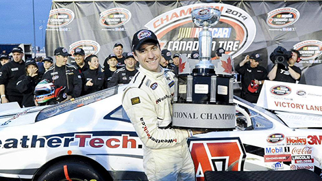 Louis-Philippe Dumoulin, champion NASCAR Canadian Tire 2014