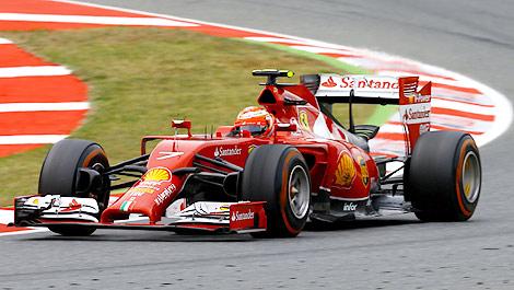 F1 Kimi Raikkonen Ferrari F14 T