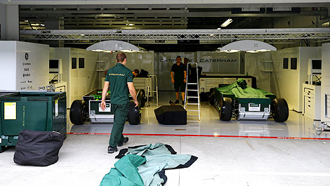 F1 Caterham garage