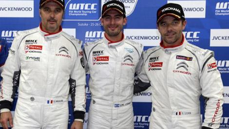 José María López, Yvan Muller et Sébastien Loeb Citroën Racing WTCC