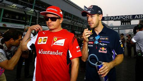 Sebastian Vettel Kimi Raikkonen F1