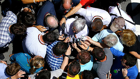 F1 Bernie Ecclestone journalists
