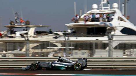 Lewis Hamilton, Mercedes W05, Abu Dhabi Grand Prix
