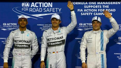 Lewis Hamilton, Nico Rosberg, Valtteri Bottas F1 Abu Dhabi Grand Prix