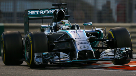 Lewis Hamilton, Mercedes W05 Abu Dhabi Grand Prix