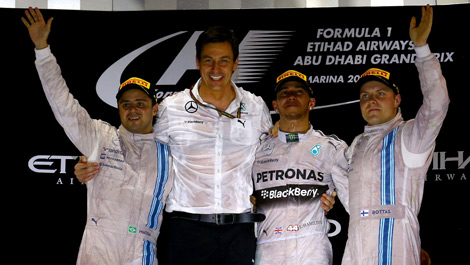 Felipe Massa Toto Wolff Lewis Hamilton Valtteri Bottas