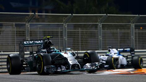 Nico Rosberg, Mercedes W05 Abu Dhabi Grand Prix F1