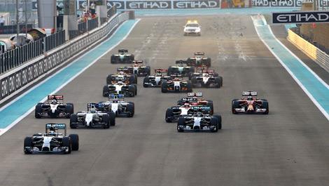 F1 Abu Dhabi start 2014