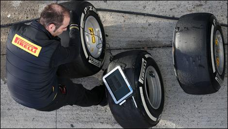 F1 Pirelli engineer tester