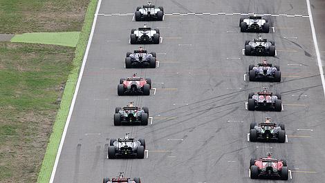 F1 starting grid 2014