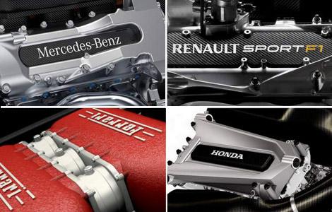 F1 V6 engine turbo hybrid Mercedes Renault Ferrari Honda