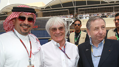 F1 Sheikh Salman bin Isa Al Khalifa Bahrain Bernie Ecclestone Jean Todt
