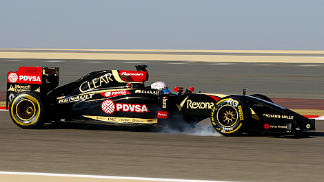 F1 Romain Grosjean Lotus E22 Renault